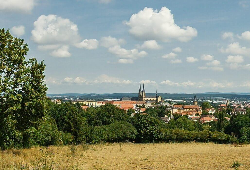 Panoramaaussieht über Bamberg.