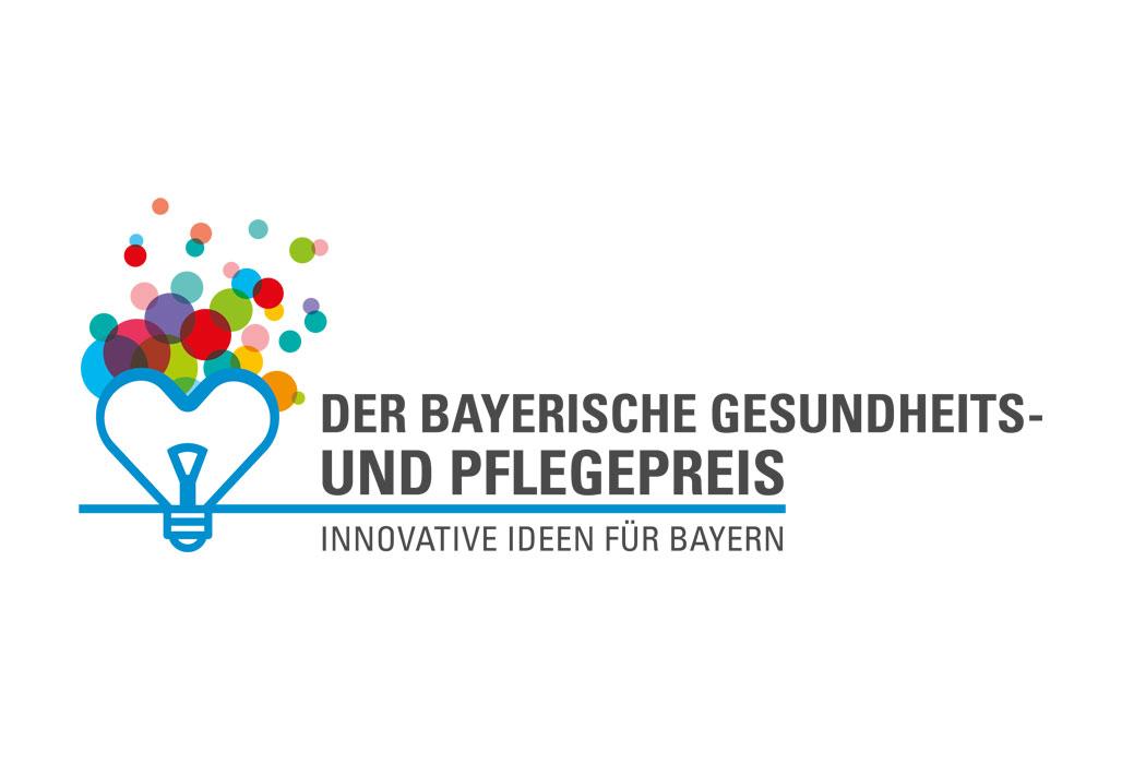 Logo Der Bayerische Gesundheits- und Pflegepreis. Innovative Ideen für Bayern