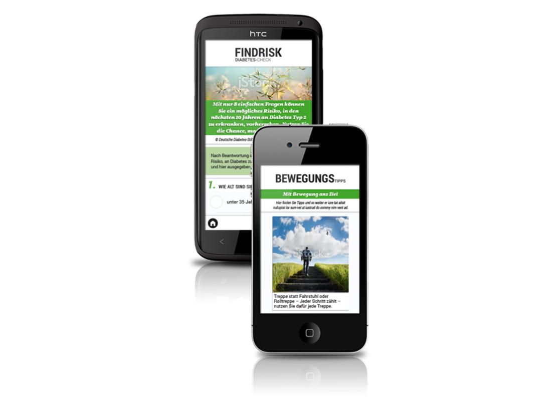 Ansicht der App Gesund ohne Diabetes.