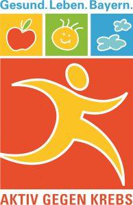 Logo des Jahresschwerpunkts 2013 der Gesundheitsinitiative Gesund.Leben.Bayern: Aktiv gegen Krebs.