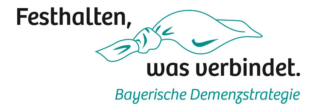 Logo Bayerische Demenzstrategie: Festhalten, was verbindet.