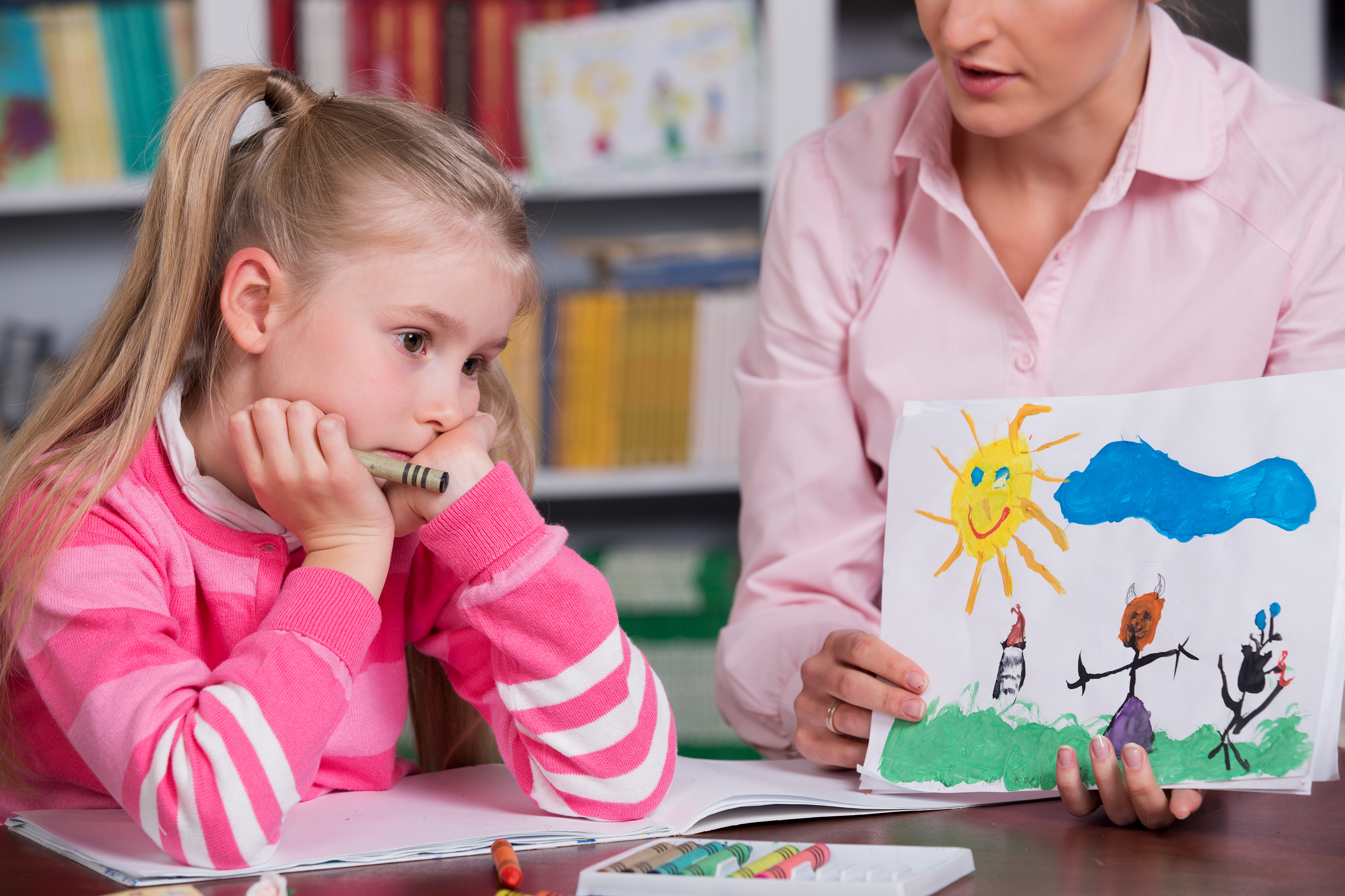Kind beim Psychotherapeuten