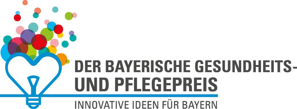 Logo Bayerischer Gesundheits- und Pflegepreis. Innovative Ideen für Bayern