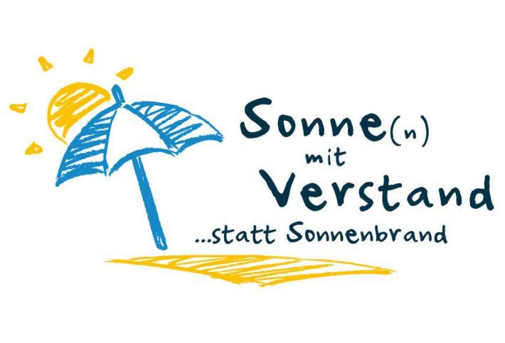 """Logo der Kampagne """"Sonne(n) mit Verstand – statt Sonnenbrand!""""."""