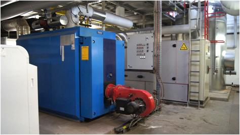 Biomassekessel mit Holzhackschnitzeln, Foto: Klinikum Altmühlfranken.