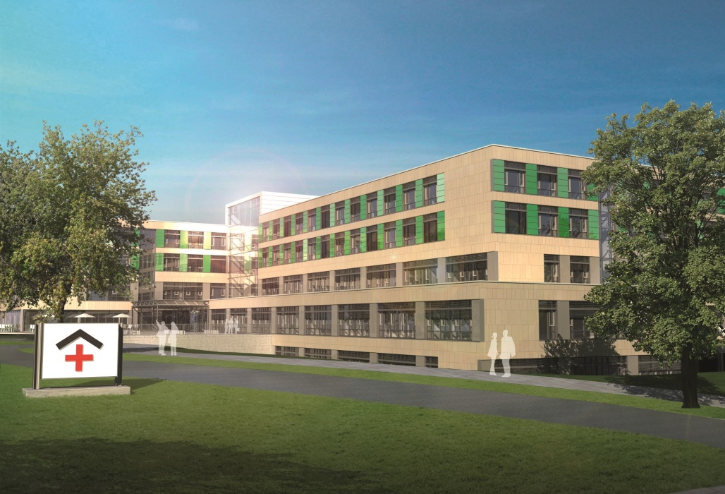 Modell des Green Hospital Lichtenfels.