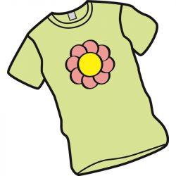 T-Shirt mit Blume.