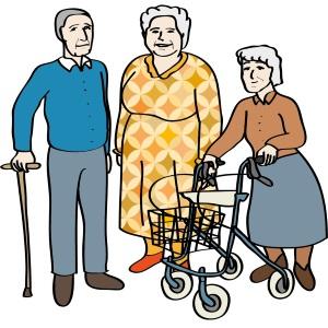 Eine Gruppe von älteren Menschen.
