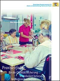 Publikation Praxisleitfaden für die Qualitätssicherung in ambulant betreuten Wohngemeinschaften.