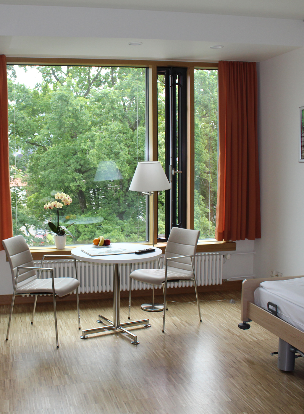 Patientenzimmer, Bezirkskrankenhaus Kempten.