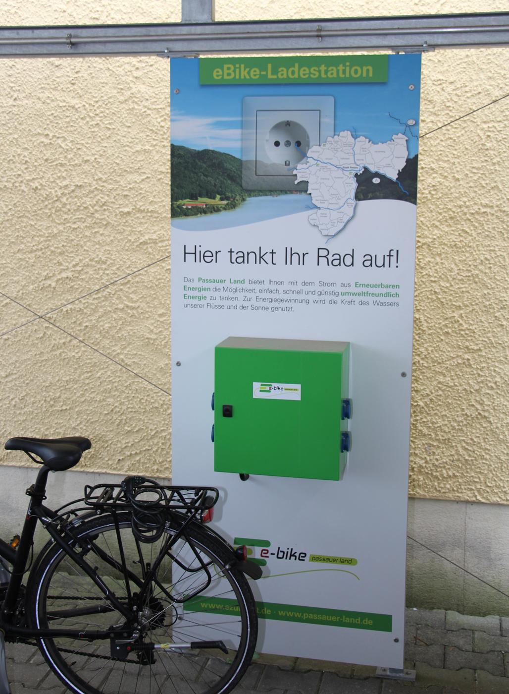 E-Bike Ladestation, Kreiskrankenhaus Vilshofen.