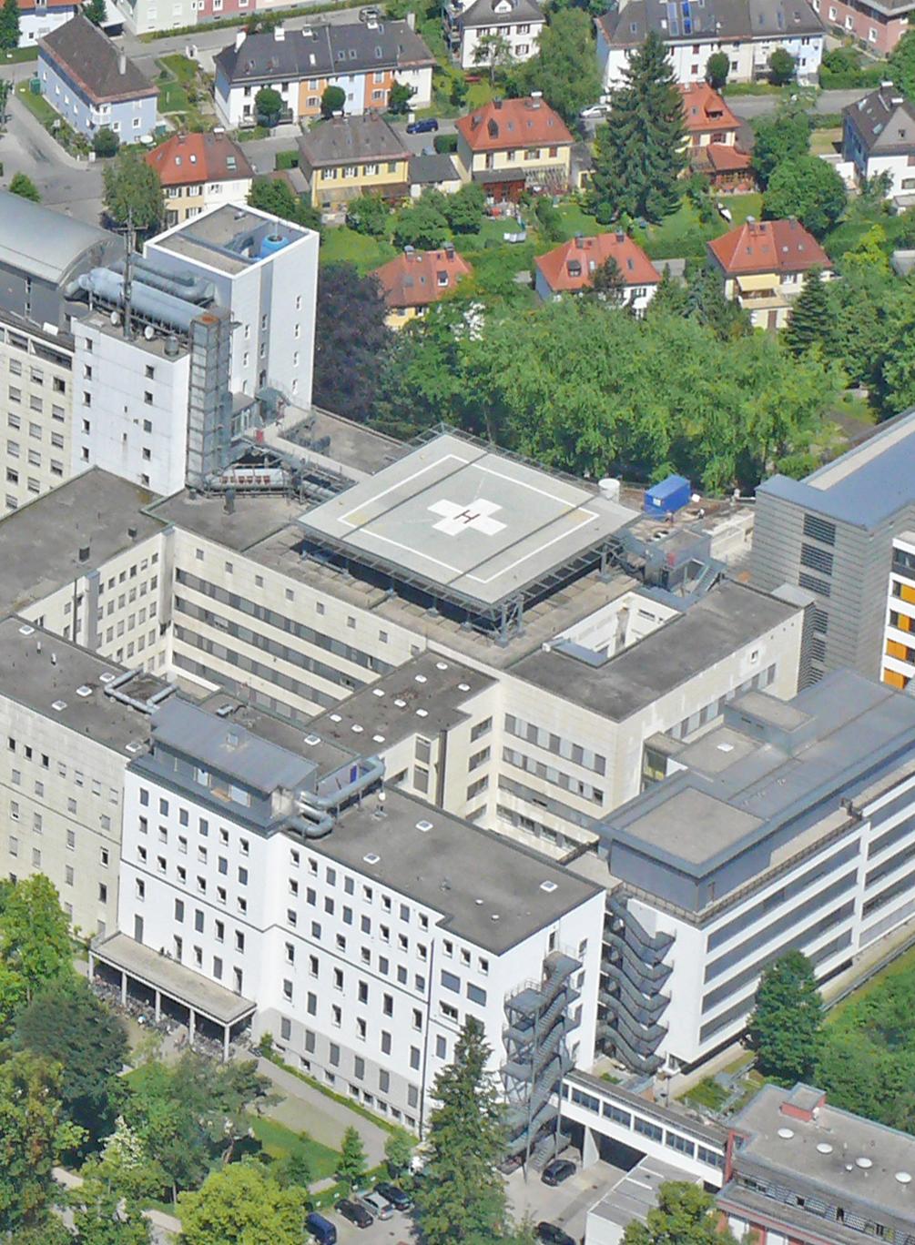 Hubschrauberlandeplatz, RoMed Klinikum Rosenheim.