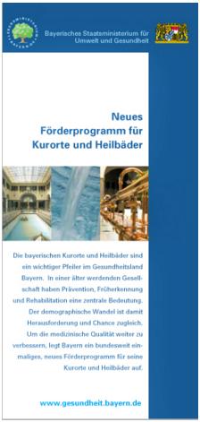Publikation Neues Förderprogramm für Kurorte und Heilbäder.