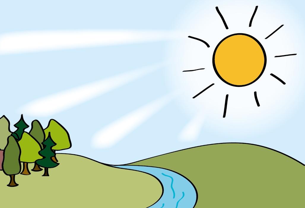 Sonnenstrahlen.