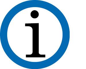 i in einem blauen Kreis - Symbol für Information