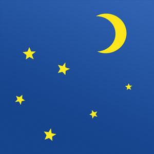 Nacht - Mond und Sterne