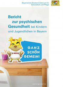Titelblatt Bericht zur psychischen Gesundheit bei Kindern und Jugendlichen in Bayern