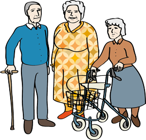 drei Senioren