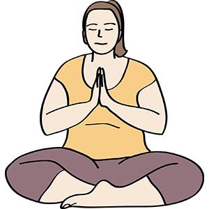 Frau entspannt bei Yoga