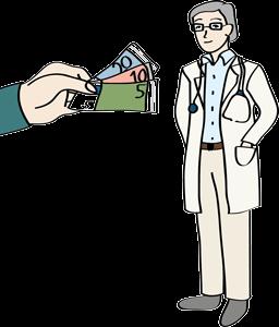 Arzt bekommt Geld