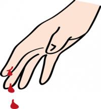 blutender Finger