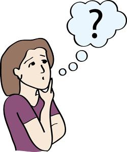 Frau hat eine Frage