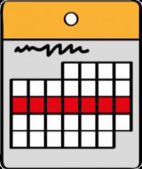 Eine Woche im Kalender