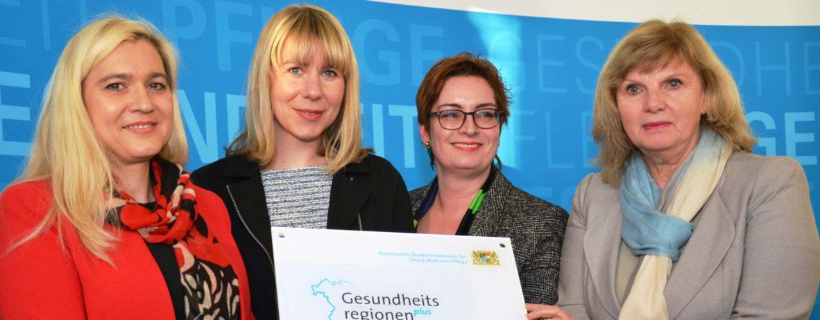 Aushändigung des Förderbescheids Gesundheitsregion plus an die Stadt und den Landkreis Ansbach