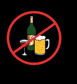 Alkohol durchgestrichen