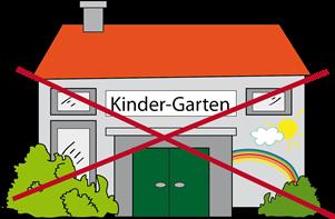 Kindergarten durchgestrichen