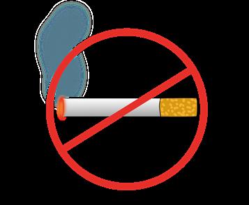 Zigarette durchgestrichen
