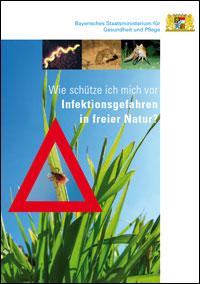 """Titelbild der Broschüre """"Wie schütze ich mich vor Infektionsgefahren in freier Natur?"""""""