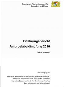 Ambrosia Bericht für 2016