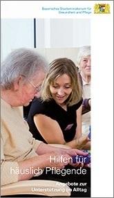 Flyer über Hilfen für häuslich Pflegende
