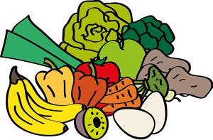 Obst und Gemüse, Eier