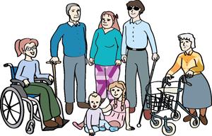 Menschen verschiedenen Alters