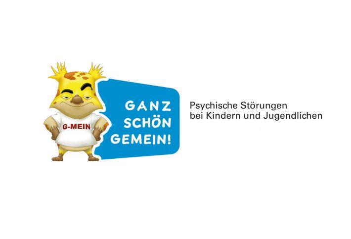 Ganz schön gemein - Psychische Störungen bei Kindern und Jugendlichen - Logo mit dem