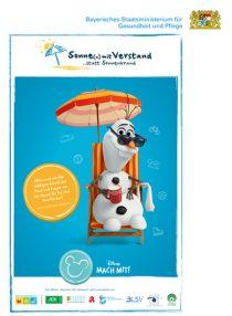 Plakat Sonne(n) mit Verstand mit Olaf