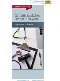 Gerichtsärztlicher Dienst in Bayern - Informationen für Bewerber