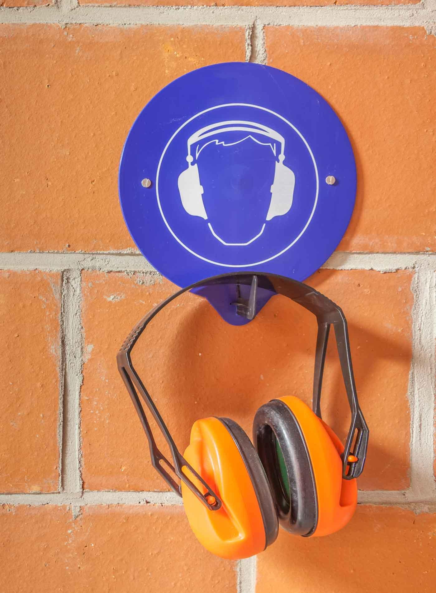 Warnschild Lärmschutz, Micky Mäuse - Kopfhörer