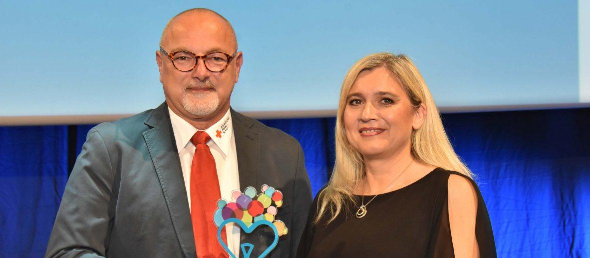 Karl-Heinz Grathwohl und Staatsministerin Melanie Huml