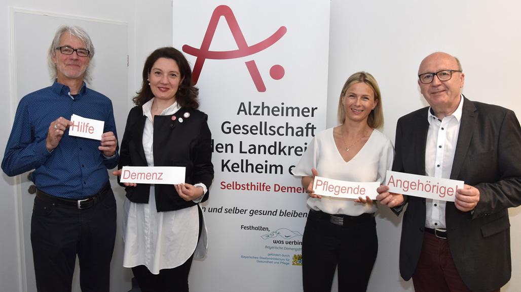 Mitarbeiterinnen und Mitarbeiter der Alzheimer Gesellschaft Landkreis Kelheim