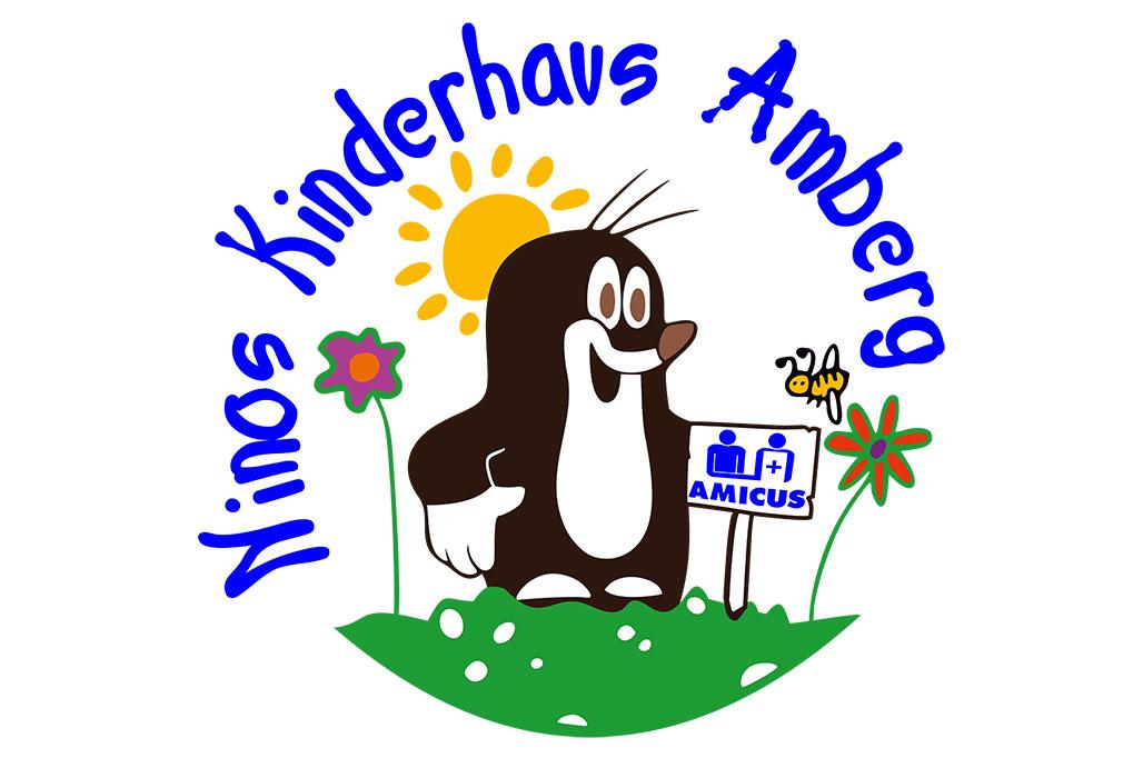 Logo mit Maulwurf: Ninos Kinderhaus Amberg