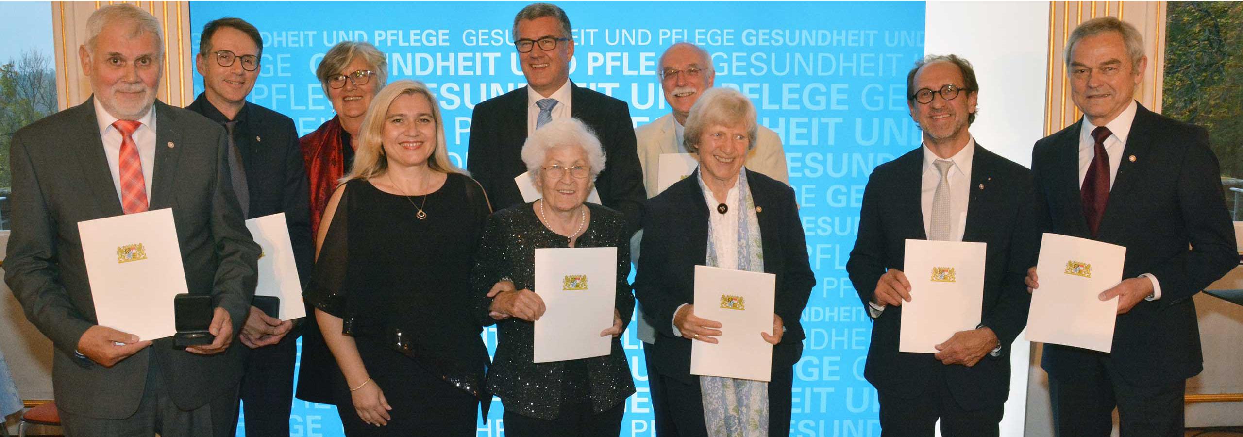 Verleihung der Gesundheits- und Pflegemedaille 2019 bei Bayreuth am 24.10.2019 - Gruppenbild