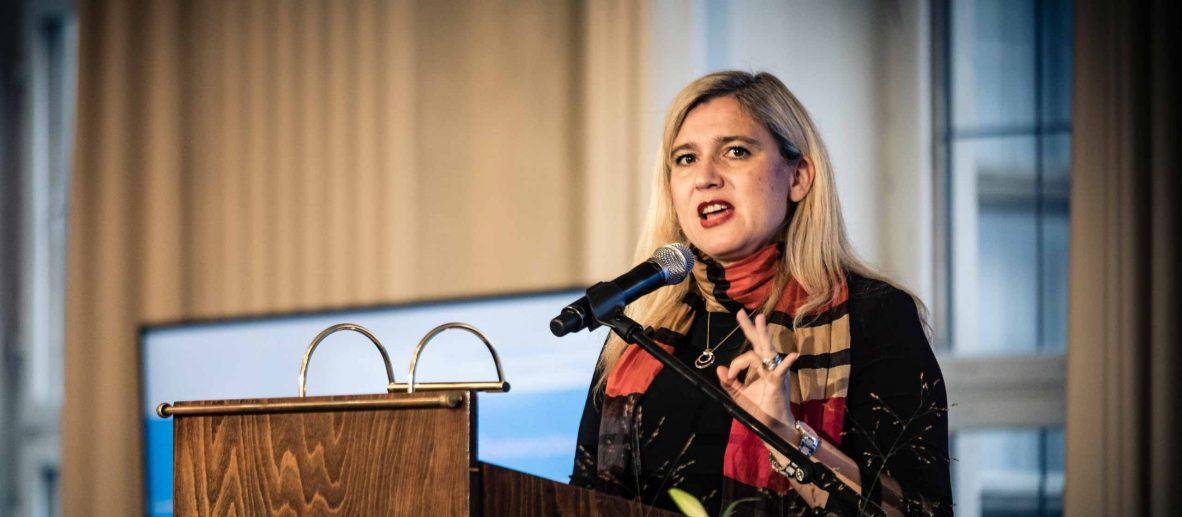 Melanie Huml, Bayersiche Staatsministerin für Gesundheit und Pflege, beim Bayerischen Hospizpreis 2019
