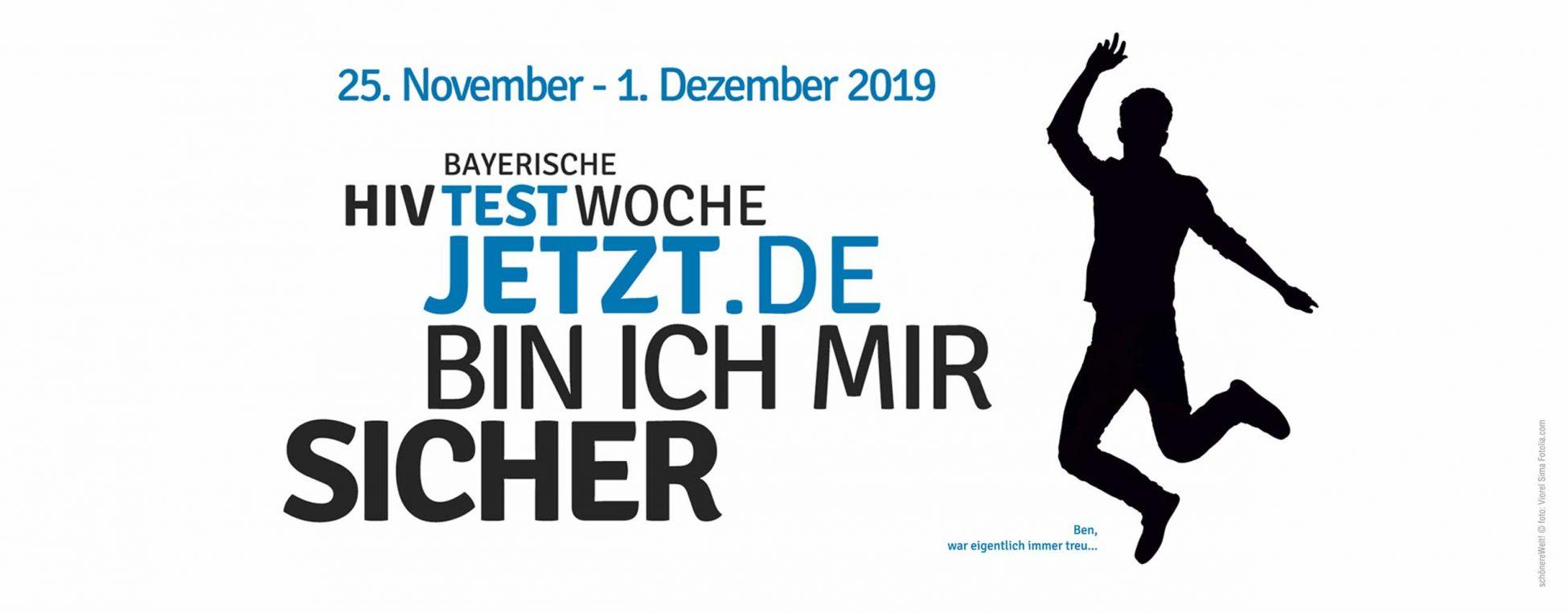 HIV Testwoche vom 25. November bis 1. Dezember 2019. Testjetzt.de. Jetzt bin ich mir sicher. Figur