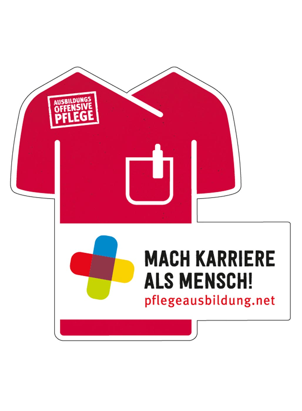 Grafik der Kampagne Mach Karriere als Mensch! pflegeausbildung.net