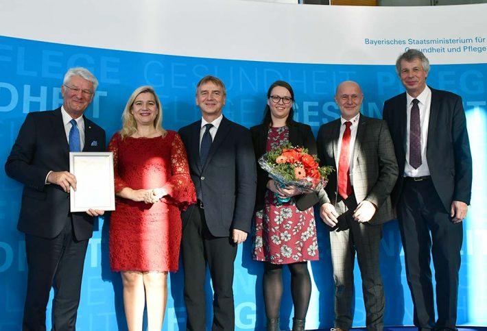 Die Preisträgerinnen und Preisträger des Bayerischen Präventionspreises 2019 aus Cham