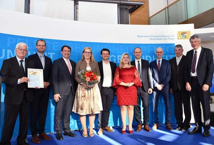 Die Preisträgerinnen und Preisträger des Bayerischen Präventionspreises 2019 aus Landshut
