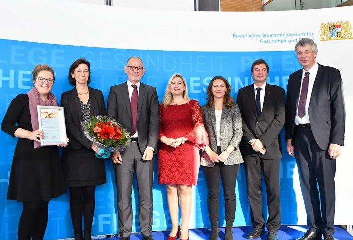 Die Preisträgerinnen und Preisträger des Bayerischen Präventionspreises 2019 aus Nürnberg